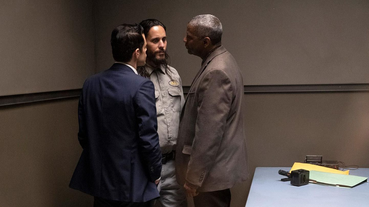 """Rami Malek, Jared Leto, and Denzel Washington in """"The Little Things."""""""