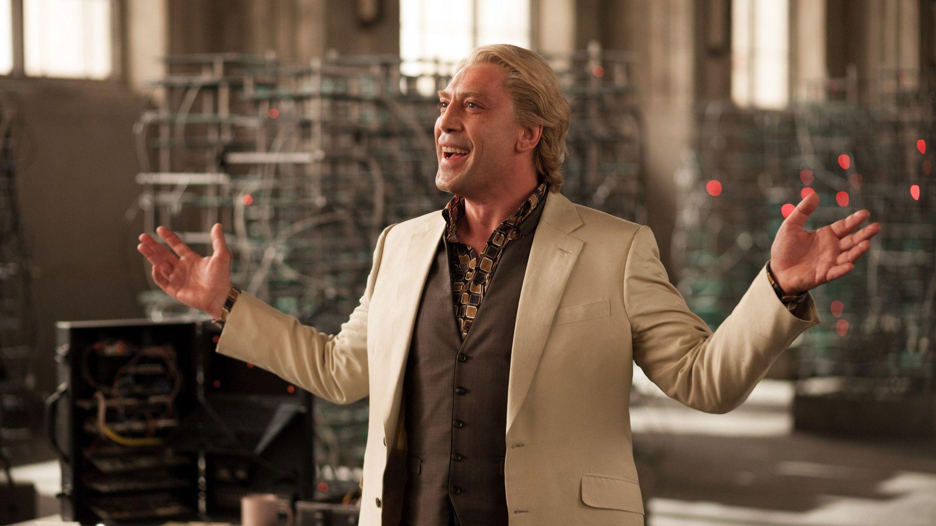 "Javier Bardem in ""Skyfall."""