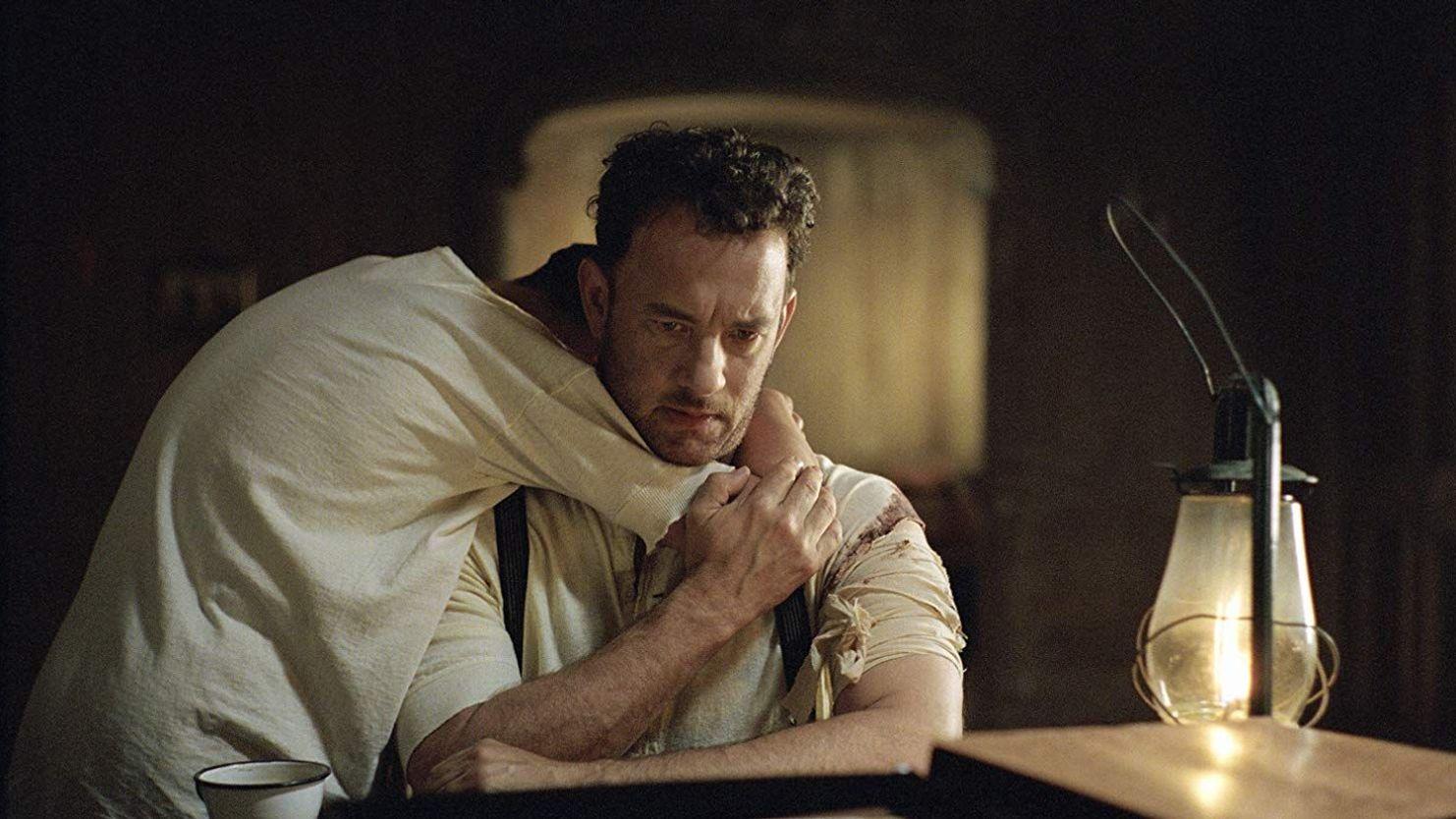 "Tyler Hoechlin, Tom Hanks in ""Road to Perdition."""