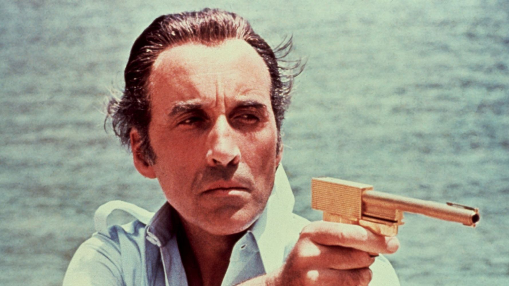 """Christopher Lee in """"The Man with the Golden Gun."""""""