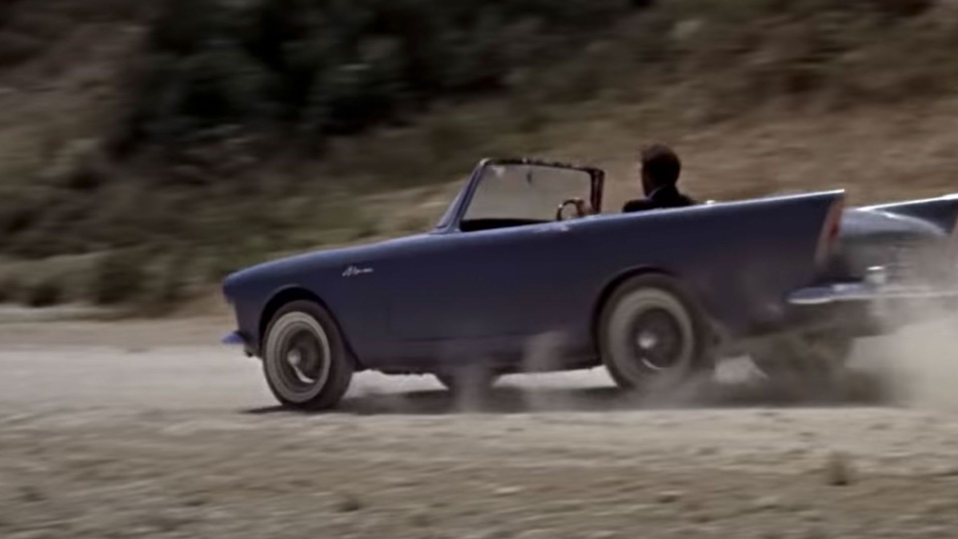 """Sean Connery in the Sunbeam Alpine in """"Dr. No."""""""