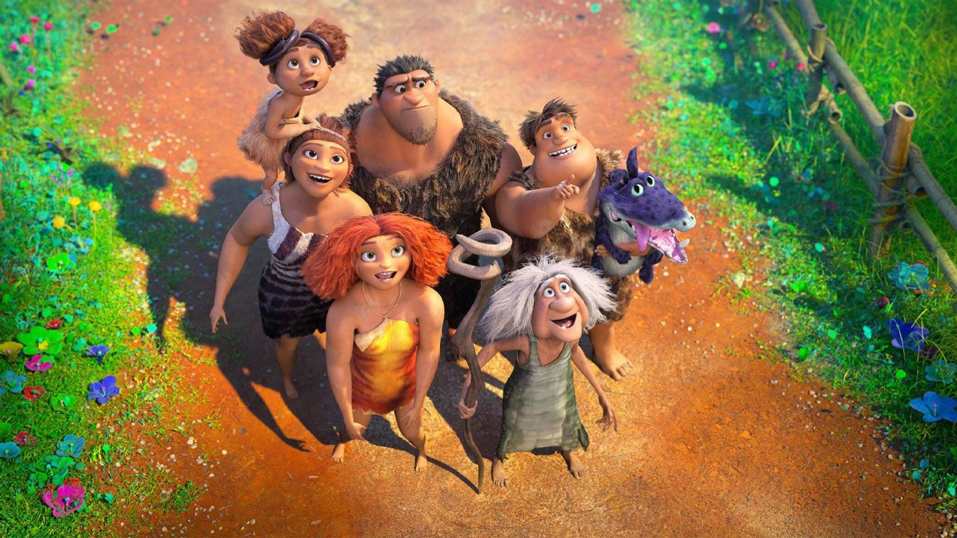 """The Croods family in """"The Croods: A New Age."""""""