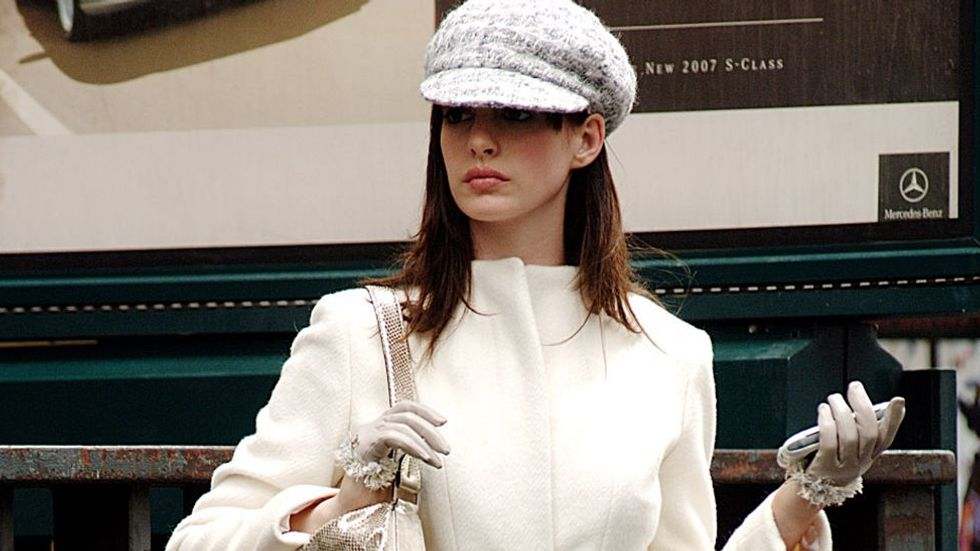 "Anne Hathaway in ""The Devil Wears Prada."""