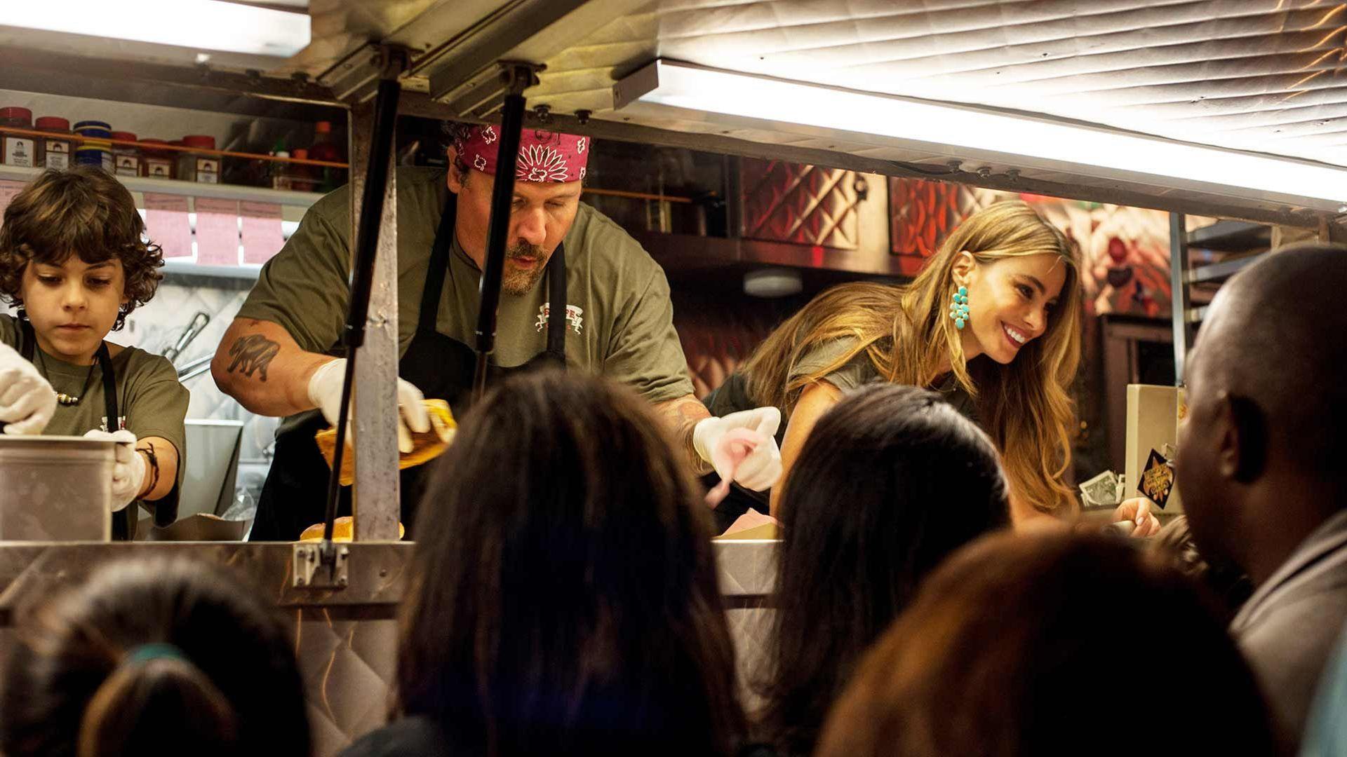 "Jon Favreau and Emjay Anthony in ""Chef"""