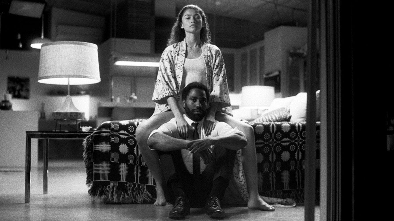 "Zendaya and John David Washington in ""Malcolm & Marie."""